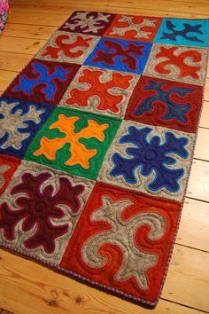 Multicoloured Patchwork Shyrdak Felt Rug