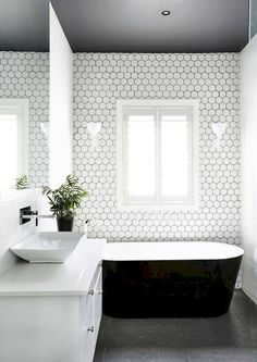 50 Black And White Master Bathroom Ideas Bathroom Inspiration Bathrooms Remodel Bathroom