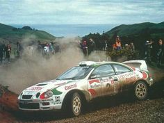 Toyota Celica GT-four. Presumably Kankkunen-Grist (no TTE logos on doors)