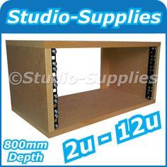 "2U-12U 19"" MDF Rack Case (800mm Depth) M6 screws, nuts & washers - Plain Finish"