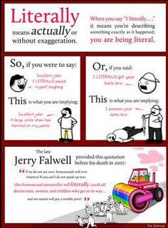 literally grammar poster