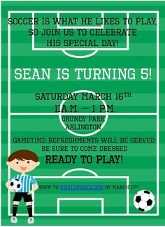 e86e8beb4955 Soccer Invitation for Boy s Birthday Party by alittleandalot