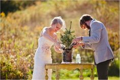The planting ceremony can be incorporated into your ceremony. Read how to incorporate this meaningful ritual into your weddings in my book, The Wedding Journey, A Guide to Your Ceremony, Personal Vows and Joyful Marriage, by Hannah Desmond. Wedding Ceremony Ideas, Unity Ceremony, Trendy Wedding, Our Wedding, Dream Wedding, Crazy Wedding, Wedding Trends, Unity Candle Alternatives, Beautiful Candles