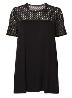 9e80d223c12 DP Curve Black Mesh Wrap Back Top - View all Plus Size Clothing - Shop By