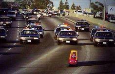 Justin Bieber's police chase