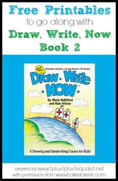 Draw, Write, Now Printables to go along with book 2 {themes include: Christopher Columbus, Autumn Harvest, and Weather} Created by www.1plus1plus1equals1.net with permission from www.BarkerCreek.com