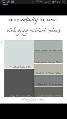 Paint cabinet colors
