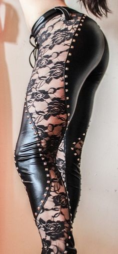 Black lace pants <3 Yes I would wear these on a date with my hubby!