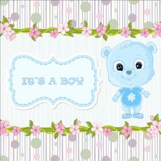 Cute floral border with baby card vector 06 - https://www.welovesolo.com/cute-floral-border-with-baby-card-vector-06/?utm_source=PN&utm_medium=welovesolo59%40gmail.com&utm_campaign=SNAP%2Bfrom%2BWeLoveSoLo