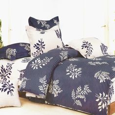 Blancho Bedding [Purple Gray Flourish] 100 Cotton Bed In A Bag Twin Pillow Shams, Pillows, Dorm Room Bedding, Purple Bedding, Bed In A Bag, Bedroom Colors, Bedroom Ideas, Purple Gray, Comforter Sets