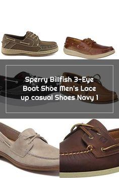 Sperry Billfish 3-Eye Boat Shoe Men's Lace up casual Shoes Navy 1 Sperrys Men, 3rd Eye, Boat Shoes, Casual Shoes, Lace Up, Navy, Fashion, Hale Navy, Moda