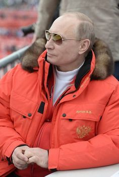 Vladimir Putin – in a coat with his initials and Russian Coat of Arms
