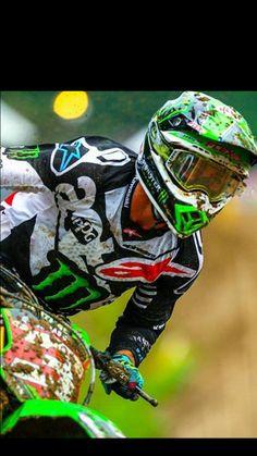 ET3 Monster Energy Supercross, Motocross Gear, Kawasaki Motorcycles, Dirtbikes, Extreme Sports, Bike Life, Bikers, Trials, Motorbikes