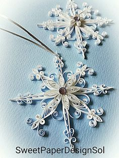 Paper Quillied 2 Snowflake Christmas by SweetPaperDesignSol