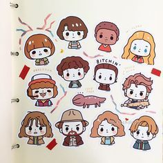 Stranger Things 2 fanart stickers now available at @whimsicute www.instagram.com/whimsicute ❤️ I had a lot of fun drawing these! ☺️ #strangerthings #strangerthings2