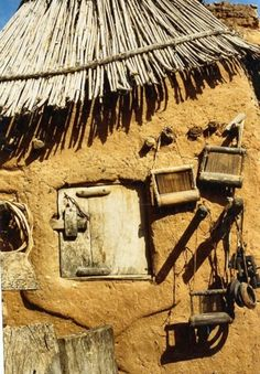 Africa | Dogon mud house in Mali.