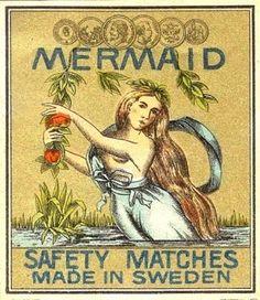 Matchbook cover, mermaid