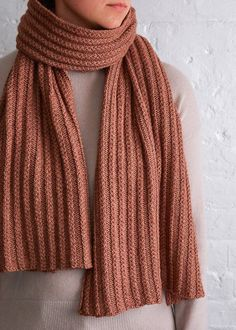 Free Knitting Pattern for 2 Row Repeat Braided Rib Wrap - This cozy scarf is knit with a 2 row cable ribbing stitch that you work right on the needles. Designed by Purl Soho Knitting Stitches, Knitting Patterns Free, Knit Patterns, Free Knitting, Free Pattern, Knitting Scarves, Beginner Knitting, Scarf Tutorial, How To Purl Knit
