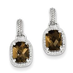 *Extra 10% off on our store plus No Shipping Charges! Period. Sterling Silver S... Check it out here! http://shirindiamond.net/products/sterling-silver-smoky-quartz-earrings-qe9910sq?utm_campaign=social_autopilot&utm_source=pin&utm_medium=pin