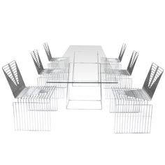 "Rare ""Sculpture"" Dining Set (10 chairs & table) By Max Sauze,1970"