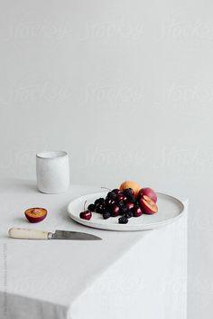 Platter of fruit on