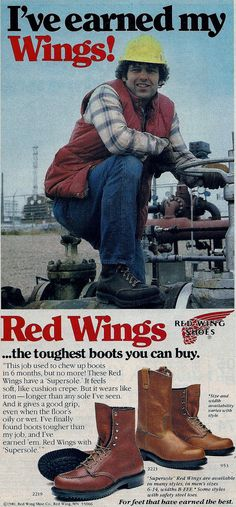 Red Wing boot advertisement.