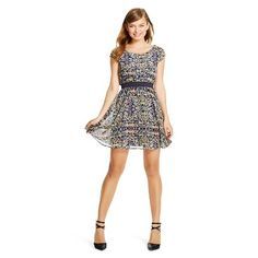 Banded Short Sleeve Dress - Xhilaration®