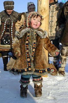 Little boy from Yakutsk, Russia. Photos: Yakutia, the third International Congress of herders, March 2005.