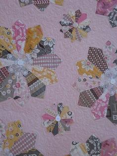 Pink Dresden quilt.