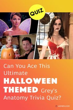 This trivia quiz will test your knowledge on how well you remember the multiple Halloween episodes from Grey's Anatomy. #greys #greysanatomyhalloween #GreysAnatomy #GreysAnatomyjackolantern #greysquiz #greyshalloween #greysAnatomyTrivia #greysanatomypumpkin #greystragedies #greysdeath #greysanatomyscene #greysanatomycostumes #halloweencostume Greys Anatomy Costumes, Greys Anatomy Facts, Callie Torres, Arizona Robbins, Cristina Yang, Trivia Quiz, Meredith Grey, Halloween Themes, Quizzes
