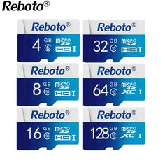 Reboto Micro SD 64GB Class 10 Pink Memory Card MicroSD 64GB Full Capacity 64 GB TF Card Micro SD One Year Replacement