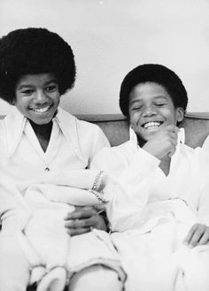 Michael and Marlon Jackson
