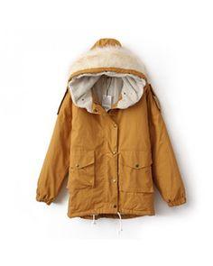 Lapel orange fleece hooded down coat Other type Solid Pop style zz10241003 in