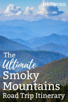 A family road trip through the Great Smoky Mountains. The perfect mountain vacation for your kids, visit historic buildings and travel around the blue ridge parkway, to enjoy the beauty of nature. Photo by: Bigstock, Kent Weakley Blue Ridge Parkway, Great Smoky Mountains, Blue Ridge Mountains, Hiking Places, Hiking Trails, Family Road Trips, Family Vacations, Vacation Trips, Vacation Ideas