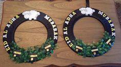 Eid Al Adha wreaths. Eid Al Adha, Ramadan, Paper Cutting, Hanukkah, Islamic, Hoop, Wreaths, Party, Crafts