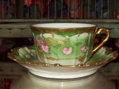 Antique Limoges Tea cup and matching saucer
