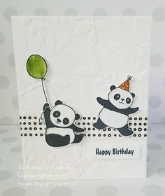 These party pandas are so  playful from Stampin'UP!