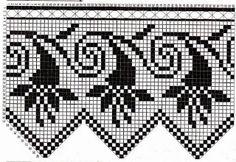 Kira scheme crochet: Scheme crochet no. Crochet Doily Patterns, Crochet Borders, Crochet Motif, Crochet Designs, Crochet Doilies, Crochet Lace, Stitch Patterns, Filet Crochet, Crochet Chart