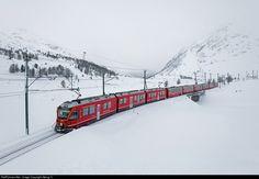 3507 RhB - Rhätische Bahn ABe 8/12 at Bernina Lagalb, Switzerland by Georg Trüb