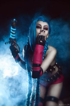 Jinx league of legends cosplay by ShlachinaPolina