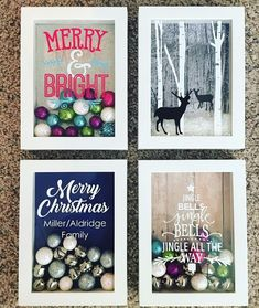 Cricut Christmas Ideas, Christmas Crafts, Jingle All The Way, Christmas Bells, Merry And Bright, Simple, Frame, Art, Boxes