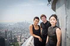 May 25, 2016: Actors Evan Peter, Alexandra Shipp and Lana Condor visited the Empire State Building to take in the views before the release of their new film, X-Men Apocalypse, in theaters May 27.