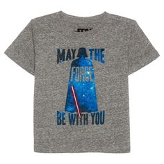 Star Wars Baby Boys' Darth Vader T-Shirt 12M - Grey, Infant Boy's, Size: 12 M, Gray