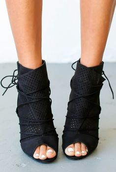4403ac097d6 Bryce Heel - Black - Wait even a moment and you just might miss the coveted  Bryce Heel in Black and Blush! We gotta have these fashion forward caged  heels, ...
