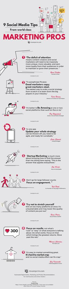 9 Social Media Tips from World Class Marketing Professionals [Infographic]