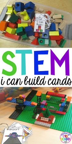 """Do ever have those kids that get to the blocks center and don't know what to build? """"I Can"""" anchor charts and books helps give students ideas of what they can build. Easy way to embed STEM activities to your early childhood classroom."""