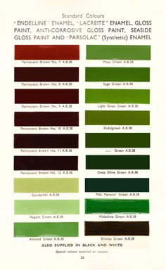 1940s 1950s Color Schemes Design Fun In The Shop