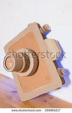 handmade cardboard camera