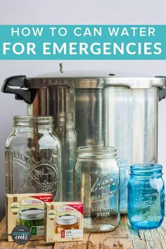 The simple task of Canning Water is great for emergency preparedness, power outages, or when you need access to distilled water. Learning how to can water is a low-cost supply for your family's drinking water needs. Canning Rack, Canning Supplies, Glass Measuring Cup, Water Bath Canning, Pantry Essentials, Printable Recipe Cards, Power Outage, Water Supply, Canning Recipes