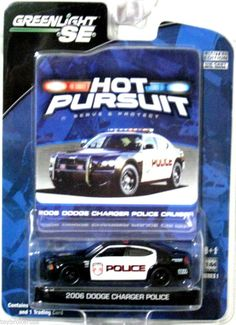 2006 Dodge Charger Law Enforcement Show Car Greenlight Hot Pursuit scale # 1 Toy Trucks, Fire Trucks, Police Cars, Police Vehicles, Lego Bathroom, Miniature, Matchbox Cars, Emergency Vehicles, Diecast Model Cars